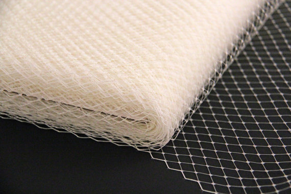 FRENCH NETTING TULLE IVORY