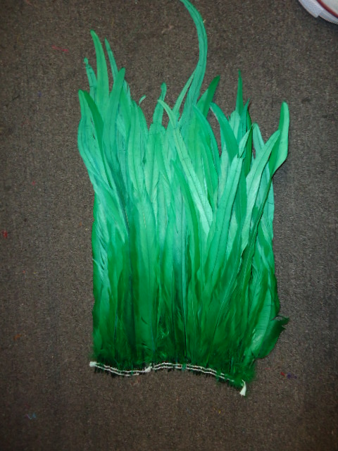 "ROOSTER TAIL COQUE FEATHERS 16-18"" GREEN"