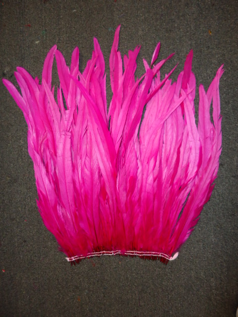 "ROOSTER TAIL COQUE FEATHERS 16-18"" HOT PINK"