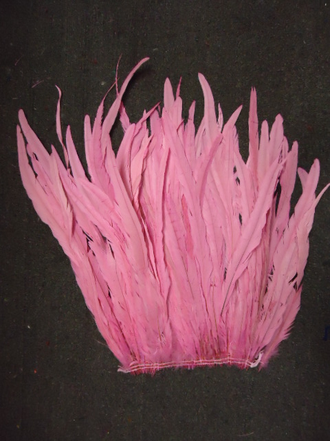 "ROOSTER TAIL COQUE FEATHERS 16-18"" PINK"