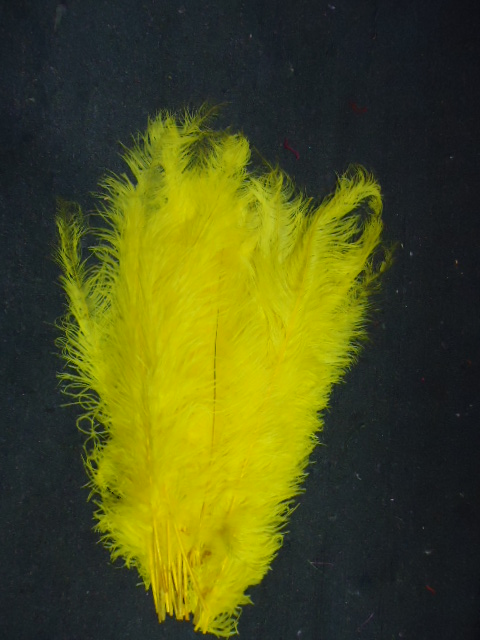 Ostrich Feather Plume 18-24 INCH CANARY YELLOW
