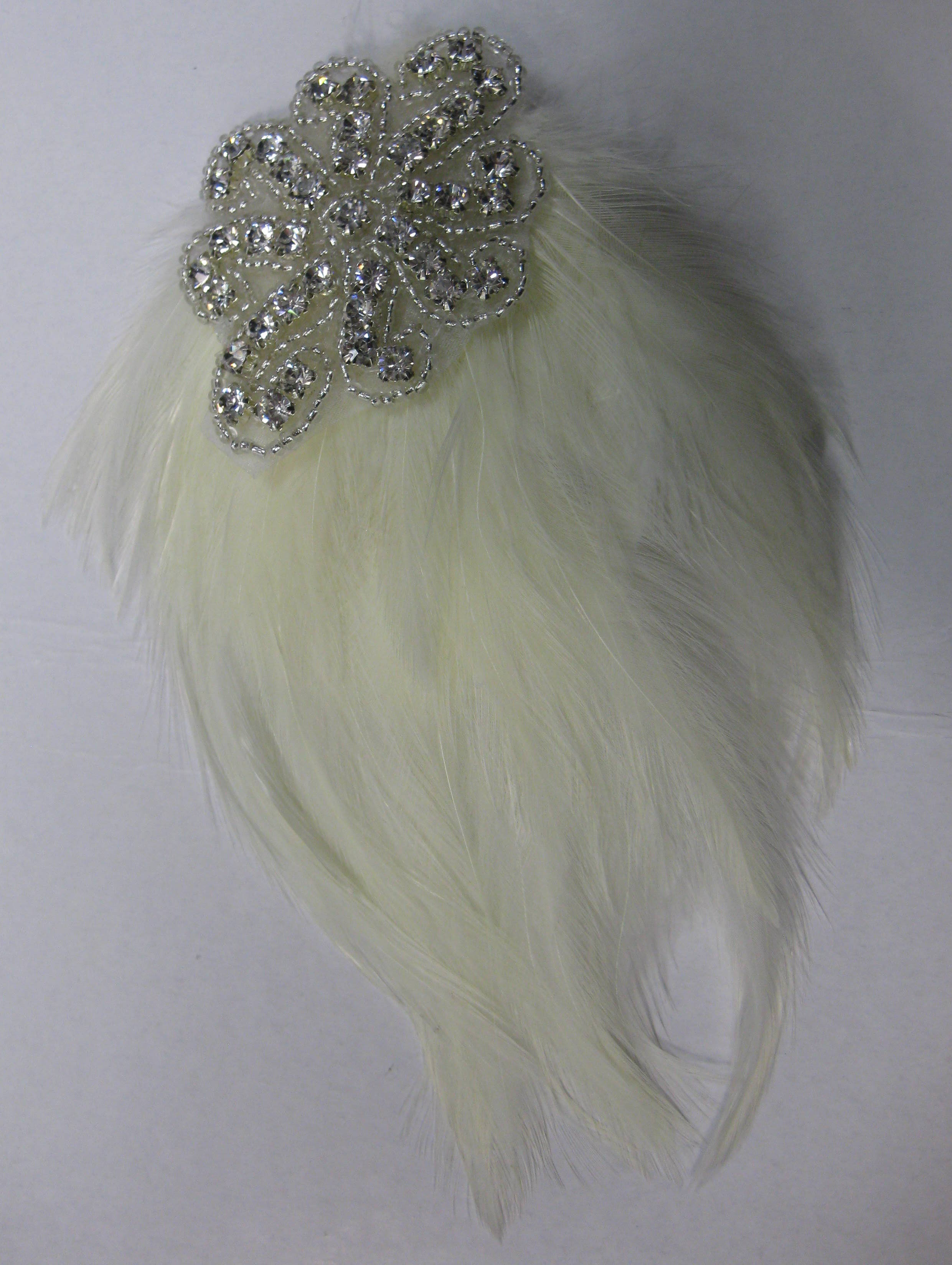 FEATHER PAD RHINESTONE