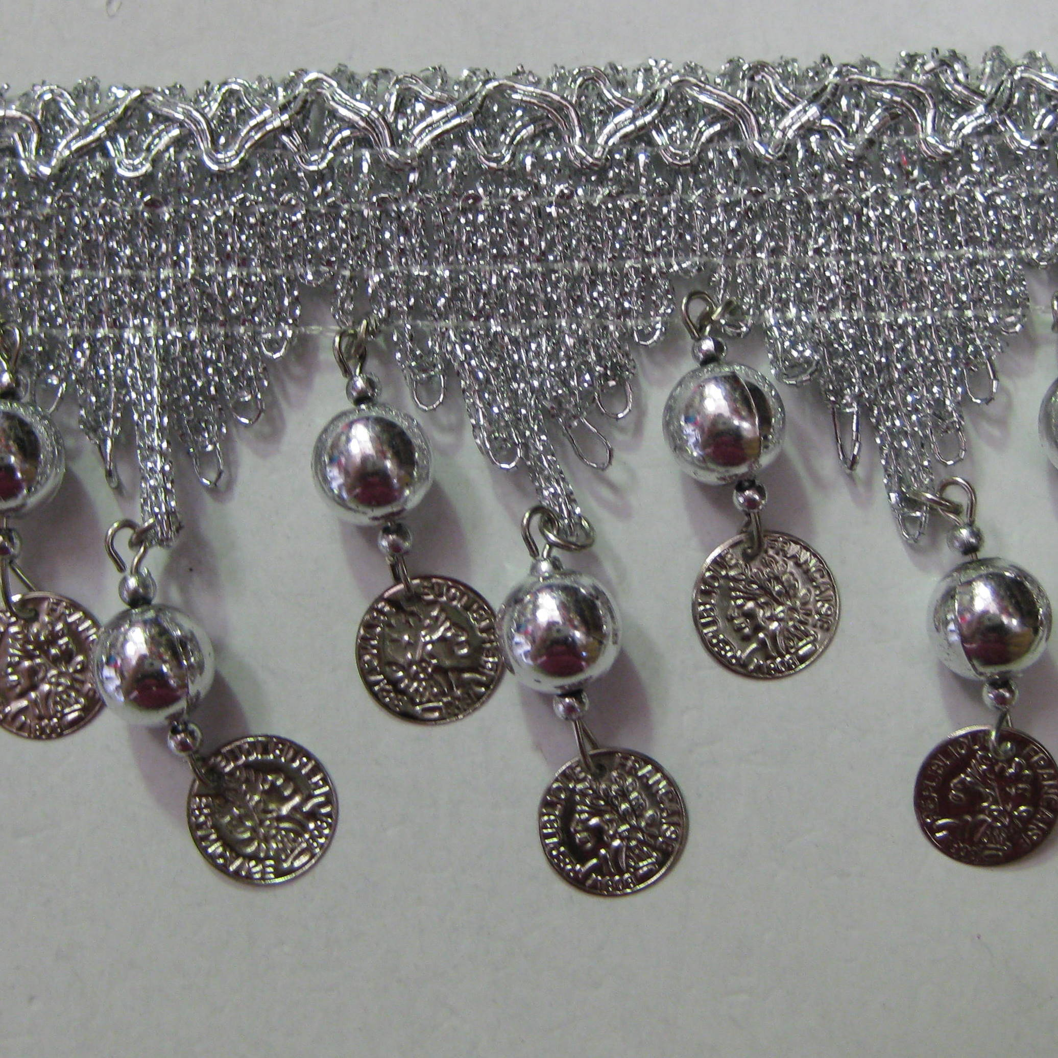 COIN FRINGE SILVER SMALL