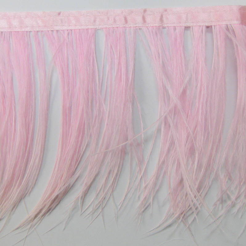 OSTRICH FRINGE LIGHT PINK
