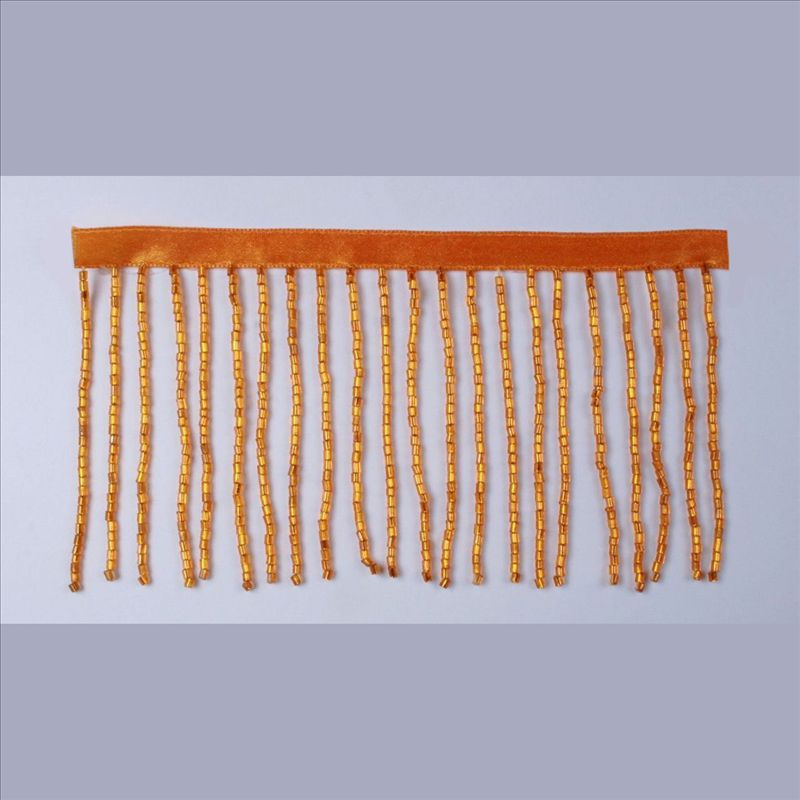 GLASS BEADS FRINGE AB ORANGE