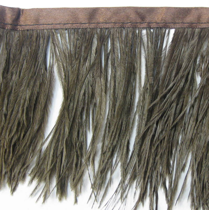 OSTRICH FRINGE BROWN