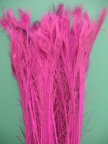 BLEACH DYED HOT PINK 35-40' PER 100