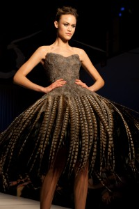 DRESS MADE BY PHEASANT TAIL FEATHER