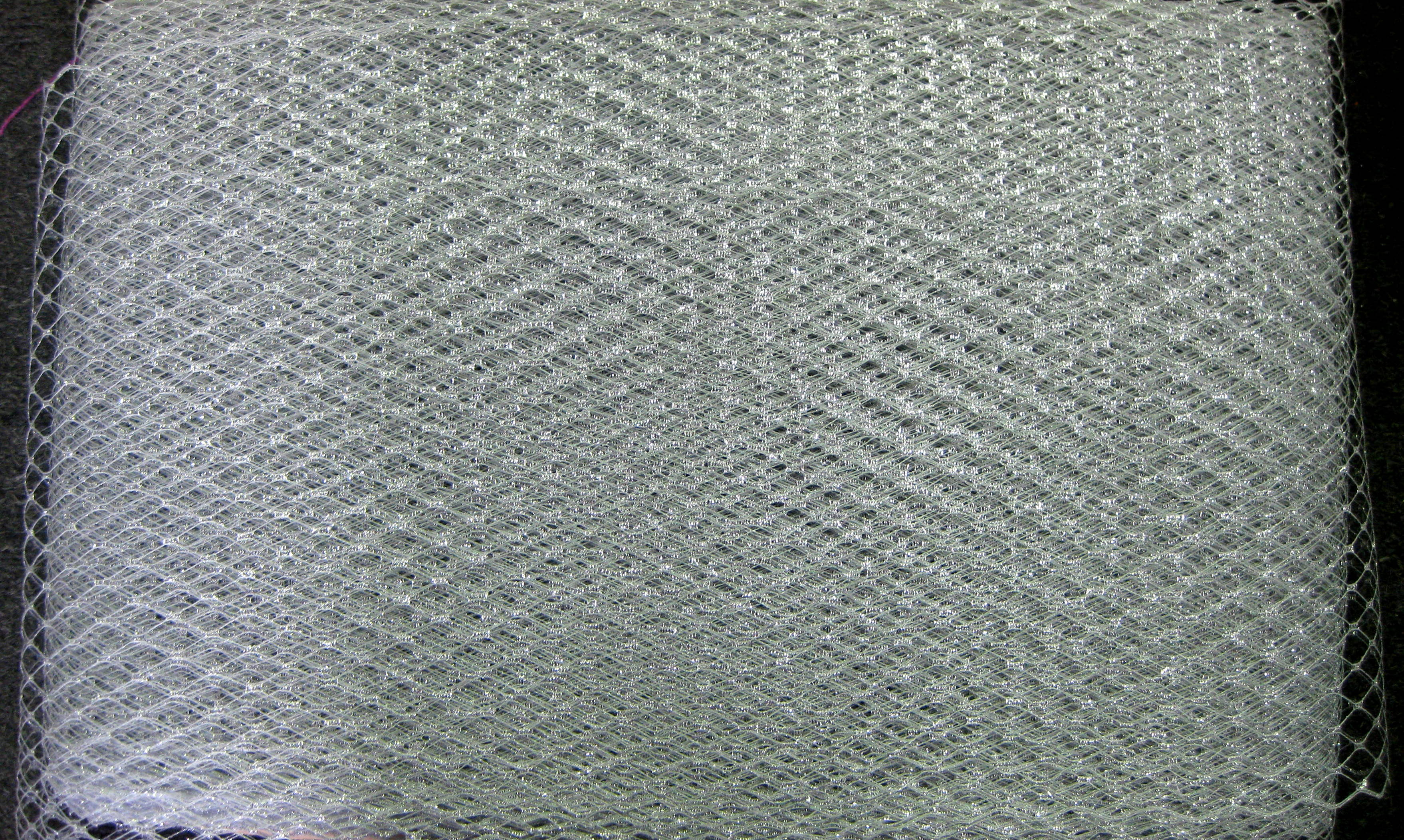 FRENCH NETTING TULLE SILVER