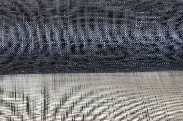 SINAMAY ABACA FABRIC BLACK COLOR
